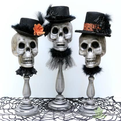 Dollar Store Halloween Decorations - Dollar Tree Halloween Skull Decor