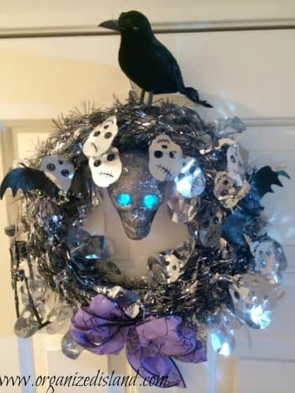 Dollar Store Halloween Decorations - Halloween Wreath