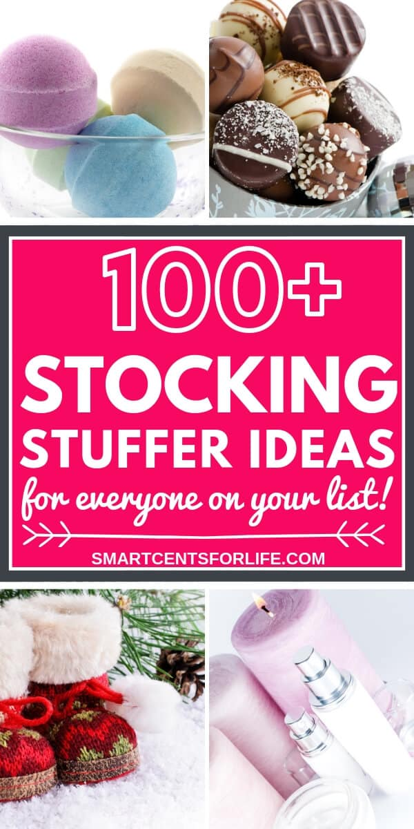Looking for the best Christmas stocking stuffer ideas? Check out this list of 100+ stocking stuffers that will help you find the perfect gift idea to your loved ones! Gift ideas for babies, toddlers, kids, teens, women, men, and anyone on your list! A massive selection of cheap or budget-friendly stocking stuffers including DIY and easy to find gifts! #Christmas #StockingStuffers #Holidays #GiftGuides