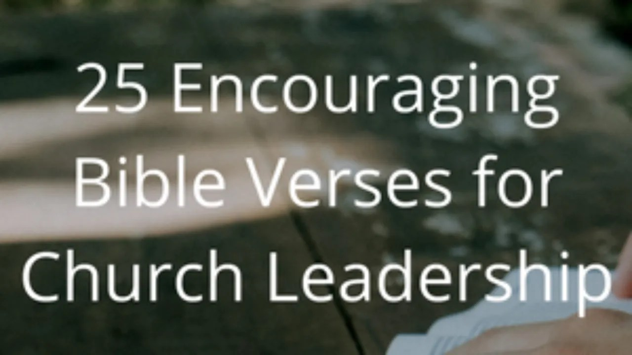 25 encouraging bible verses