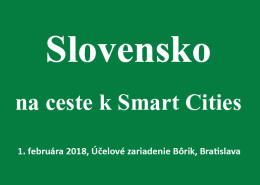 Slovensko na ceste k Smart Cities 2018