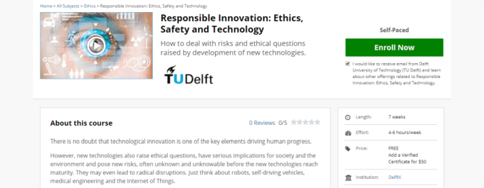 smart city online course, Responsible Innovation, edx
