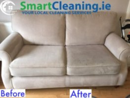 Medium Upsholstery Sofa for stain removal and deodorise with Smart Cleaning Ireland