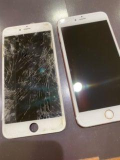 iPhone6Sp 画面交換 【飯塚市からのご来店】