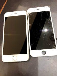姉妹店修理速報 iPhone8 画面交換