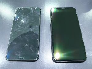iPhoneXS 画面交換 【朝倉市からのご来店】