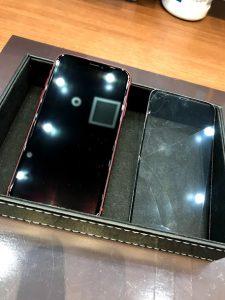ガラスコーティングをしたiPhoneX