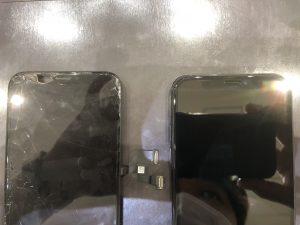 iPhoneXの画面割れ修理