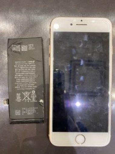 アイフォン8のバッテリー交換にお越し頂きました