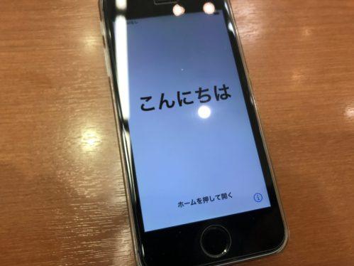 無事に起動するようになったiPhoneSE、アイホンSE