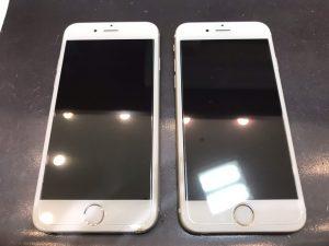 iphone8の画面割れ修理2台同時