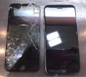iphone6sの画面割れ液晶割れ交換修理