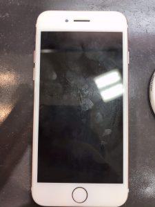 iphone6sバッテリー交換とフィルム貼り付け