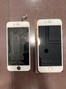 アイフォン 6 iphone 画面 割れ 破損 交換 修理 バキバキ 割れ 修理