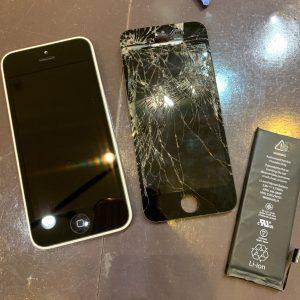 iPhone アイフォン 5 5c バッテリー 画面 電池 膨張 ガラス 割れ 破損 交換 修理