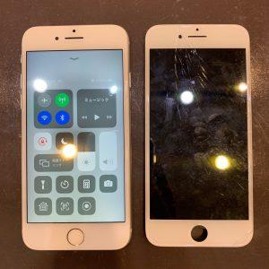 画面交換修理をしたiPhone8