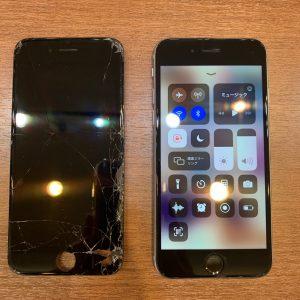 フロントガラス破損修理をしたiPhone6s
