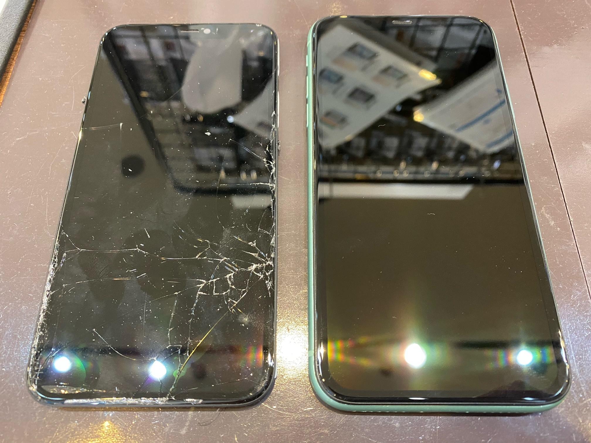 iPhone11pro 画面交換修理 宝塚市 t