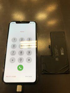 iPhoneXSバッテリー交換