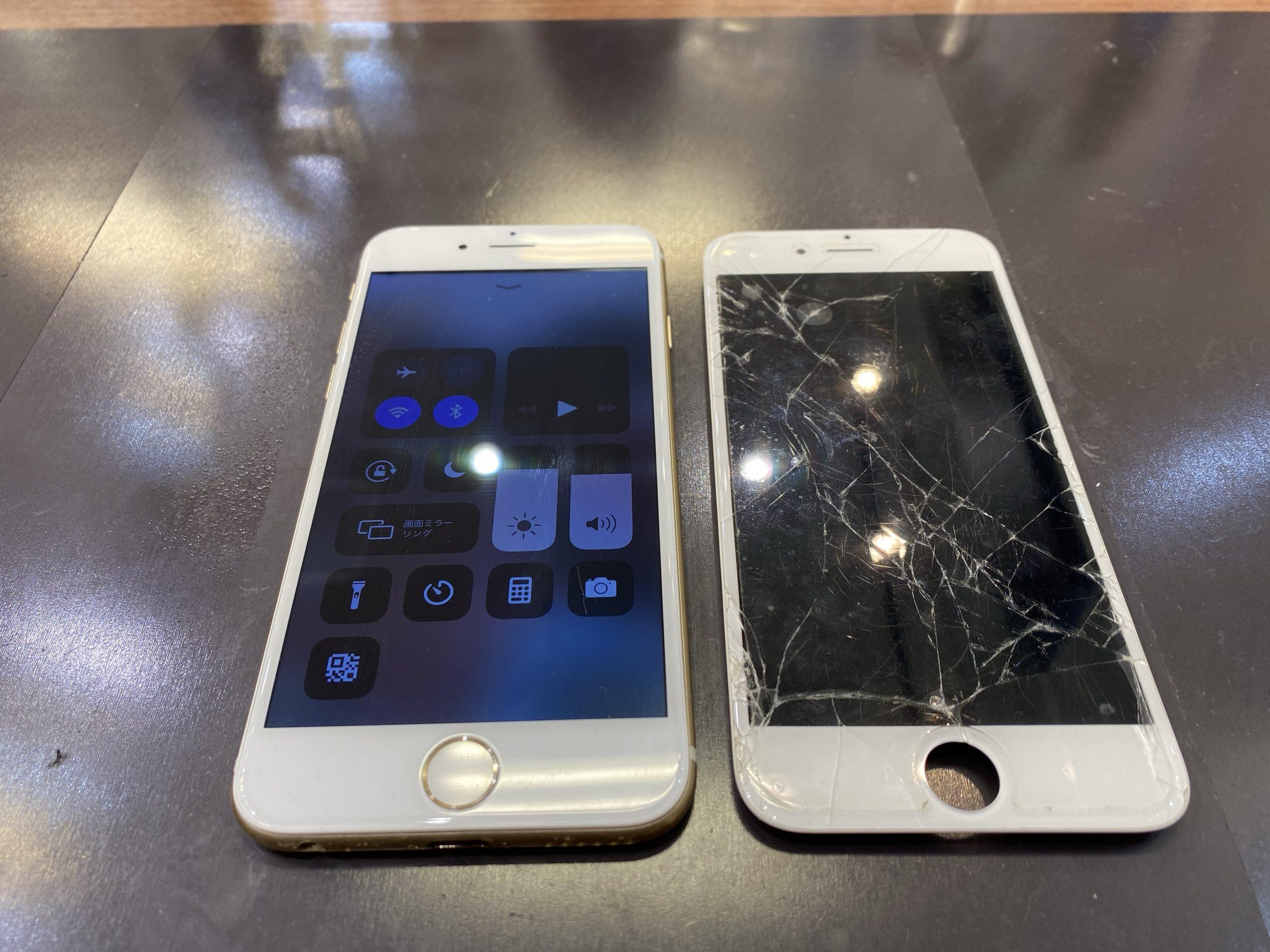 iPhone6/画面交換/東区よりお越しのお客様
