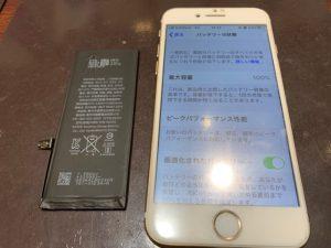 【姉妹店修理速報】iPhone7 バッテリー交換