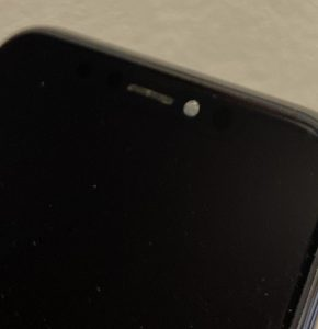 iPhoneXSインカメの曇り