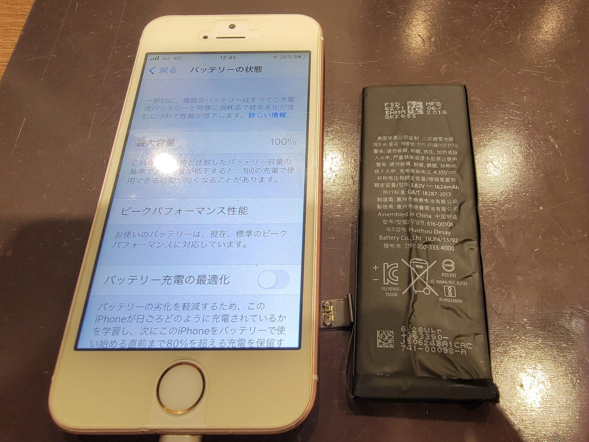 iPhone初代SEバッテリー交換