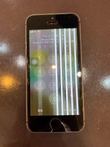 液晶パネルに縦線が入ったiPhonese