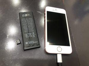 バッテリー交換をしたiPhone