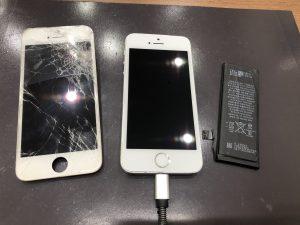 画面とバッテリー交換をしたiPhoneSE