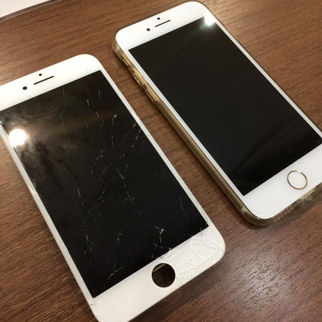 バキバキでも即日修理!そのお日にお返しできます!iPhone7の画面交換。【岡山県岡山市よりお越しのお客様】