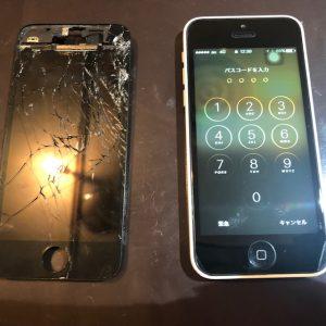 iPhone5Cの画面交換(倉敷市からのお客様)