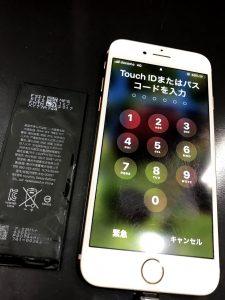 バッテリー交換をしたiPhone8