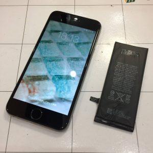 iPhone6のバッテリー交換・古い機種でもまだまだ使えます・岡山市のお客様