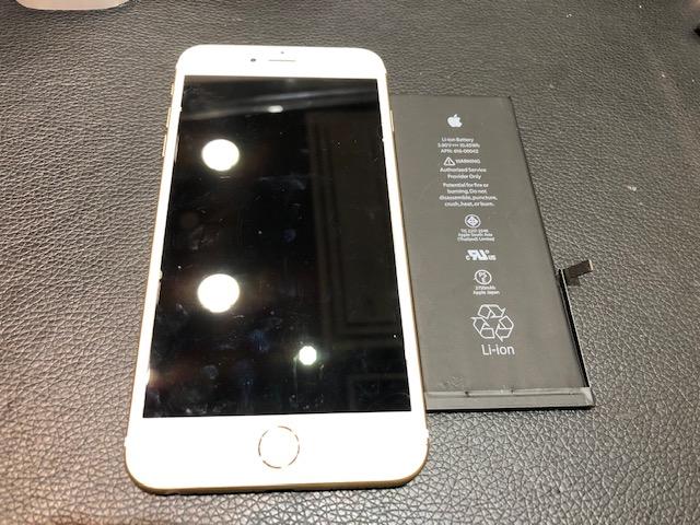 iPhone6sPlus・バッテリー交換(岡山市からのお客様)