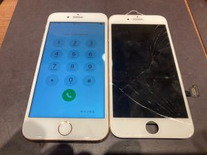 iPhone8puls 画面交換
