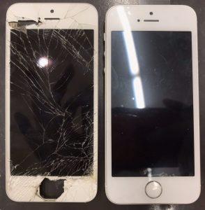 iphoneSEの画面割れ修理