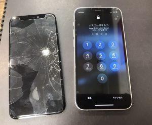 iPhone12mini画面割れ