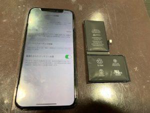iPhoneXバッテリー交換【池田市からのお客様】