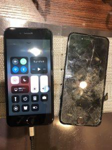 iPhone8の画面交換【住吉区よりお越しのお客様】