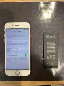 iPhone8のバッテリー交換作業