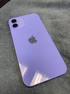 iPhone12 パープル ガラスコーティング