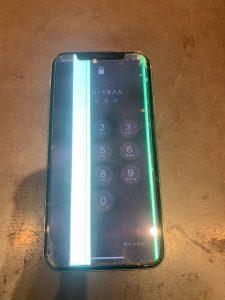 iPhone 光の縦線