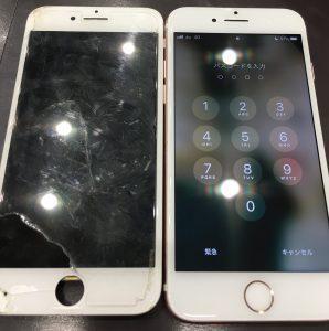 タッチ不良でお持ち込みされましたが、もとどおり!!iPhone7の画面交換 スタッフ募集中!!土日祝日入れる方大歓迎!!〈香川県高松市のお客様〉