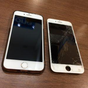液晶ガラスを交換したiPhone7