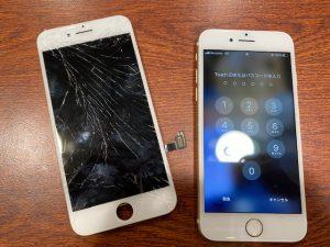 画面交換をしたiPhone8