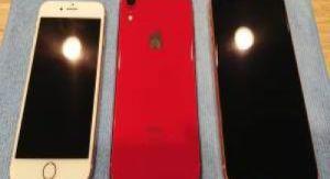 ガラスコーティングをしたiPhone7・8・XR