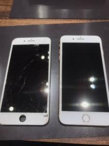 画面交換をしたiPhone8Plus