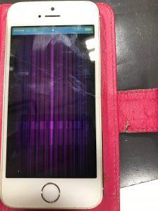液晶がおかしくなったアイフォン5s