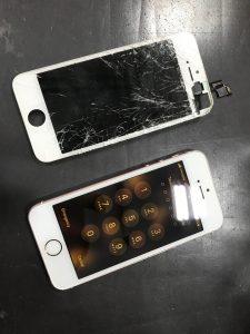 画面交換修理で復活アイフォンSE
